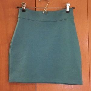 Urban Outfitters Silence+Noise Teal Mini Skirt